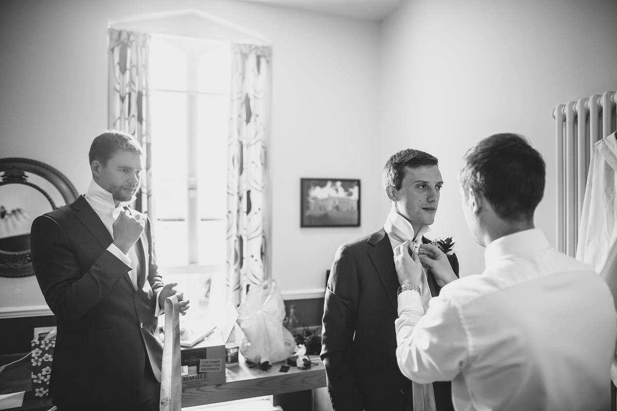 missenden abbey groom getting ready
