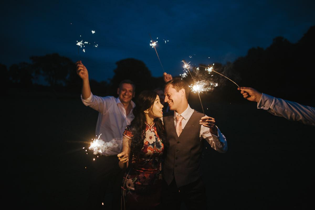 missenden abbey wedding sparklers