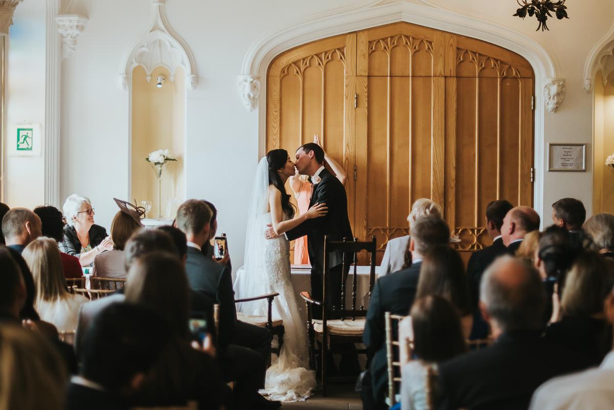 missenden abbey wedding first kiss