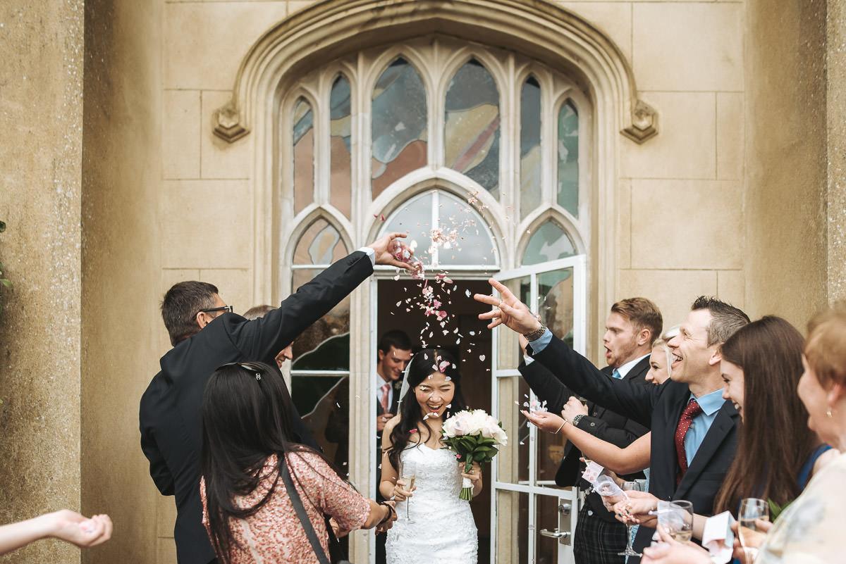 missenden abbey wedding confetti