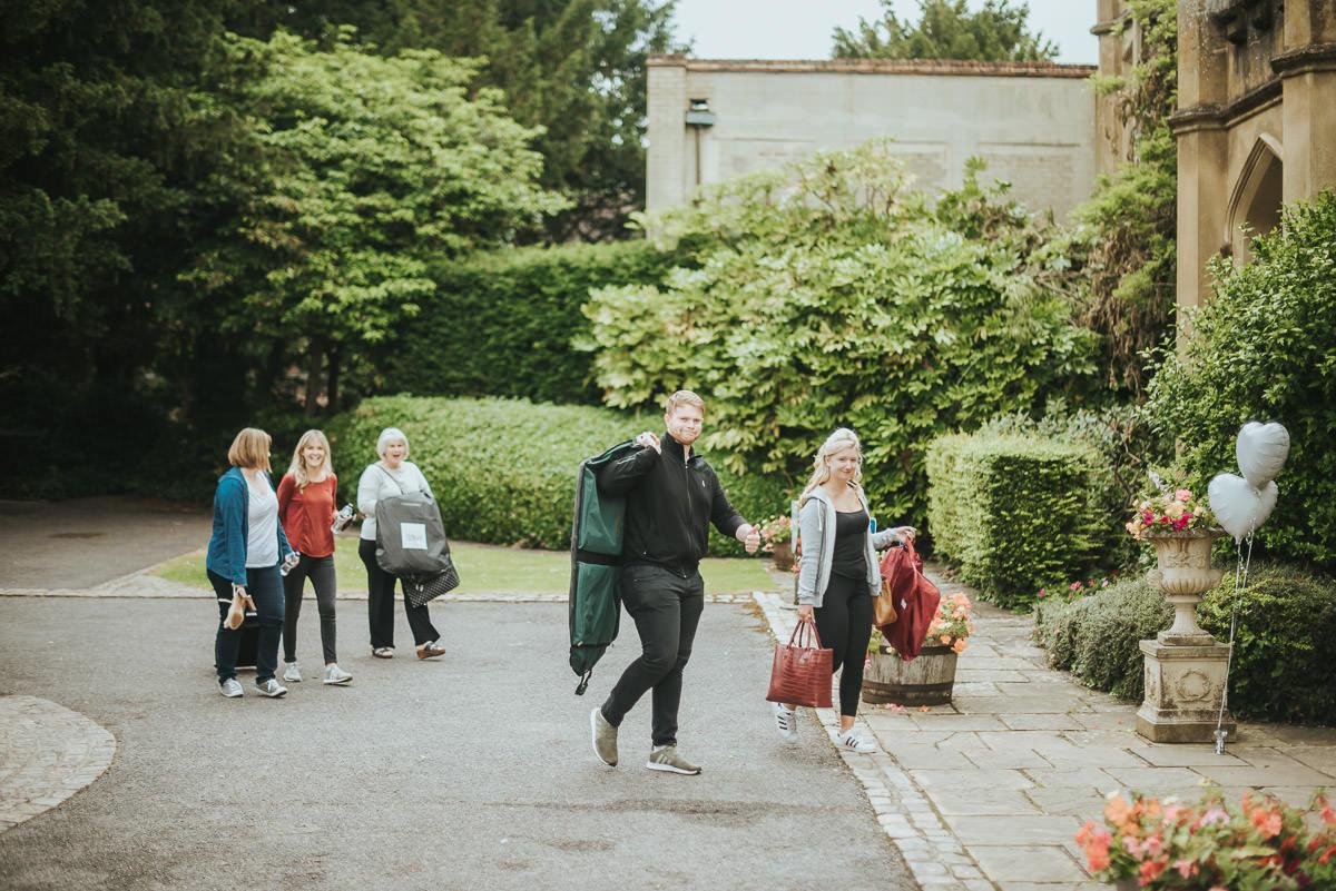 missenden abbey wedding guests arriving