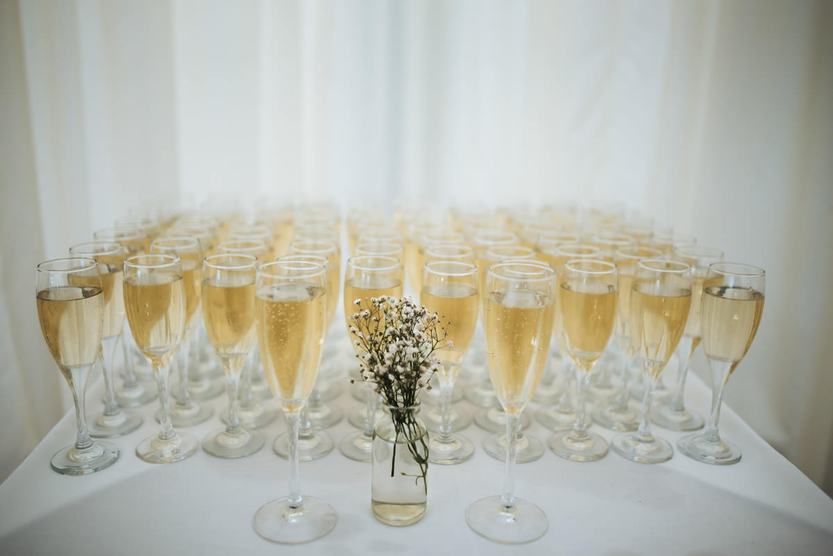 missenden abbey wedding champagne