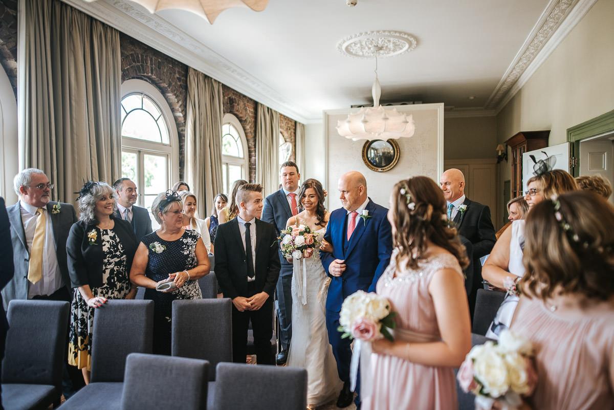 york and albany london wedding ceremony