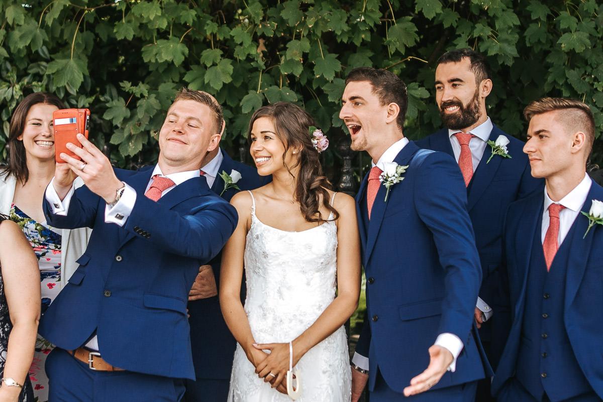 york and albany london wedding group shots