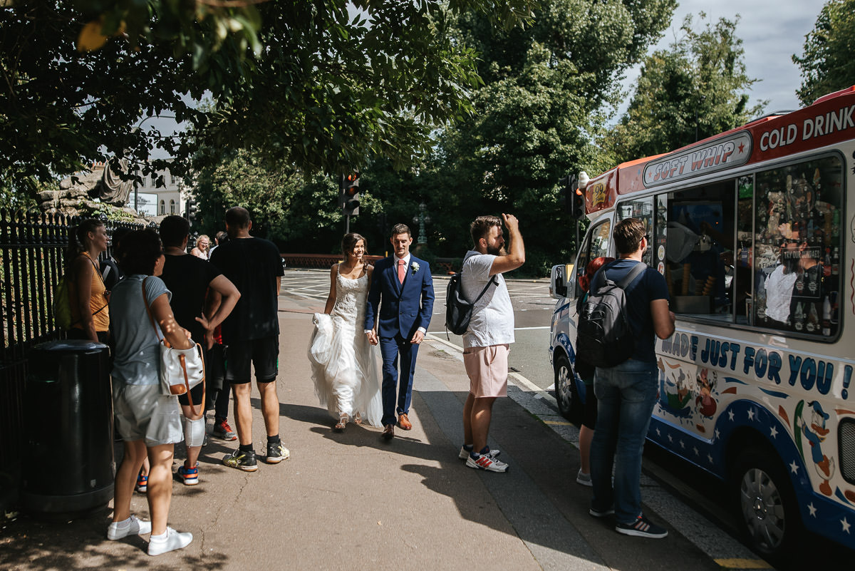 regents park york and albany london wedding couple shots