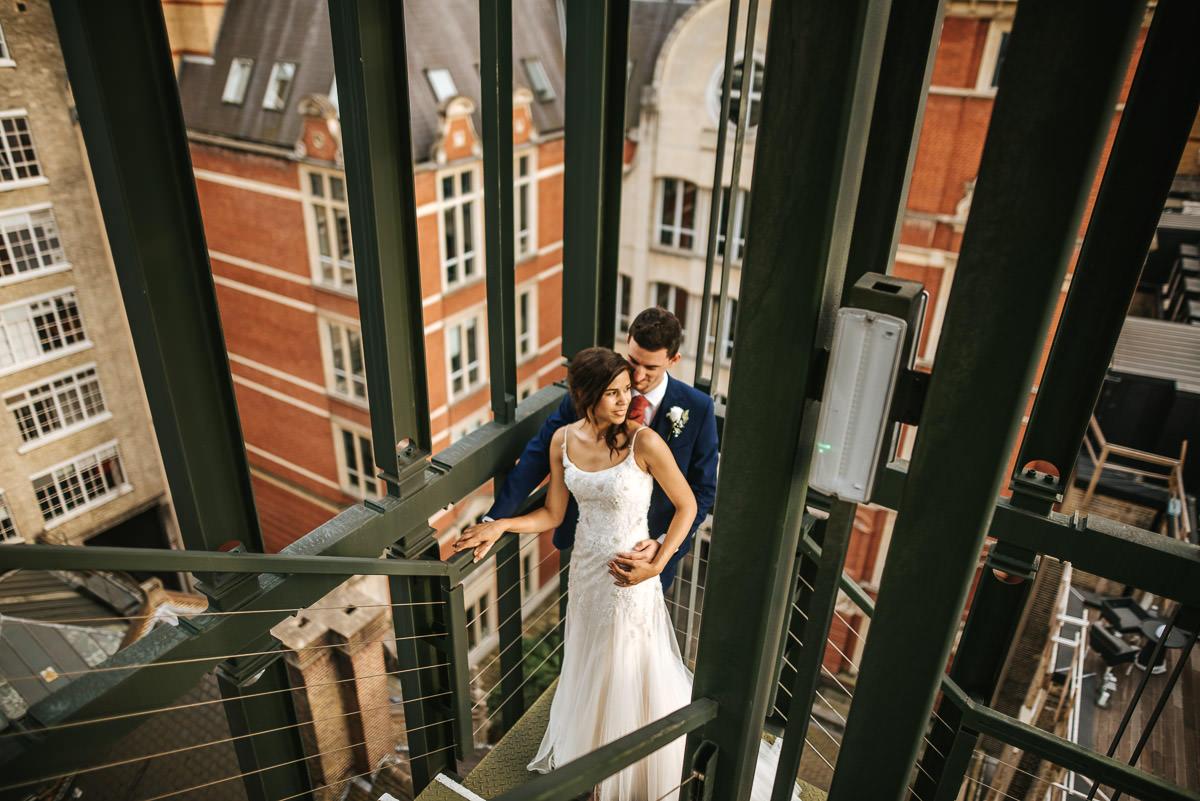 city london wedding bride and groom