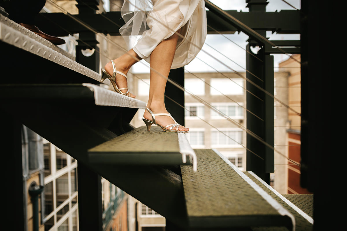 city london wedding bride and groom shoes