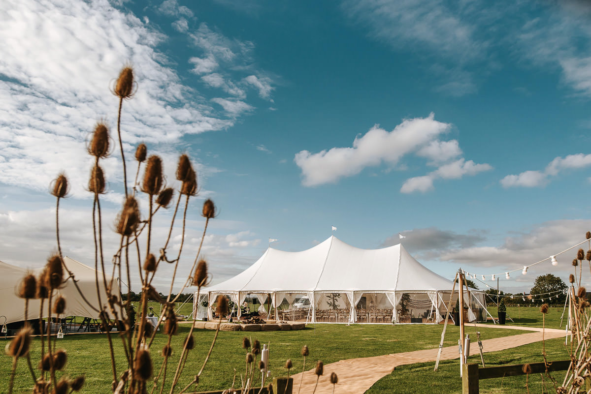wedding marquee by lincolnshire wedding photographer