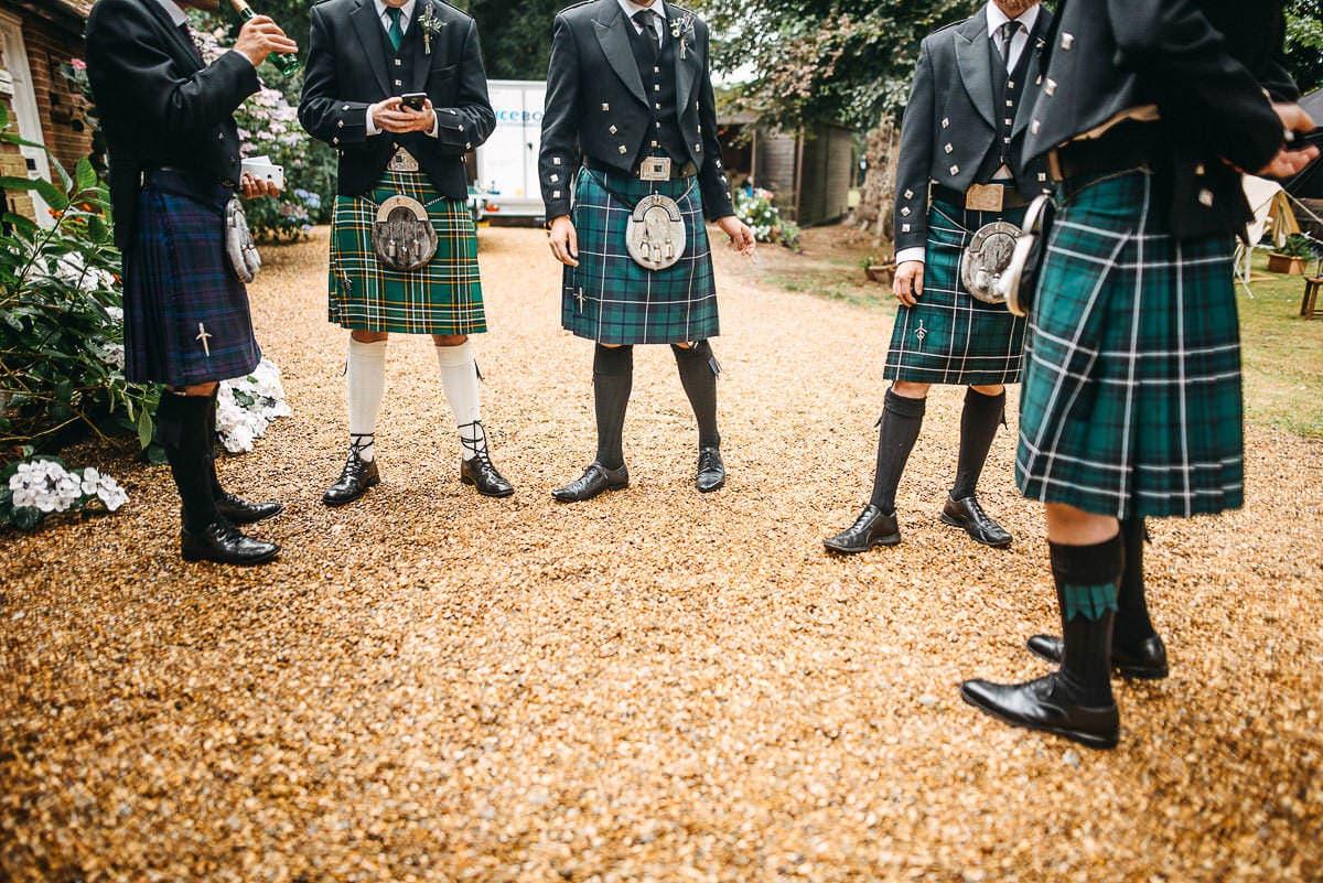 kilts at london wedding