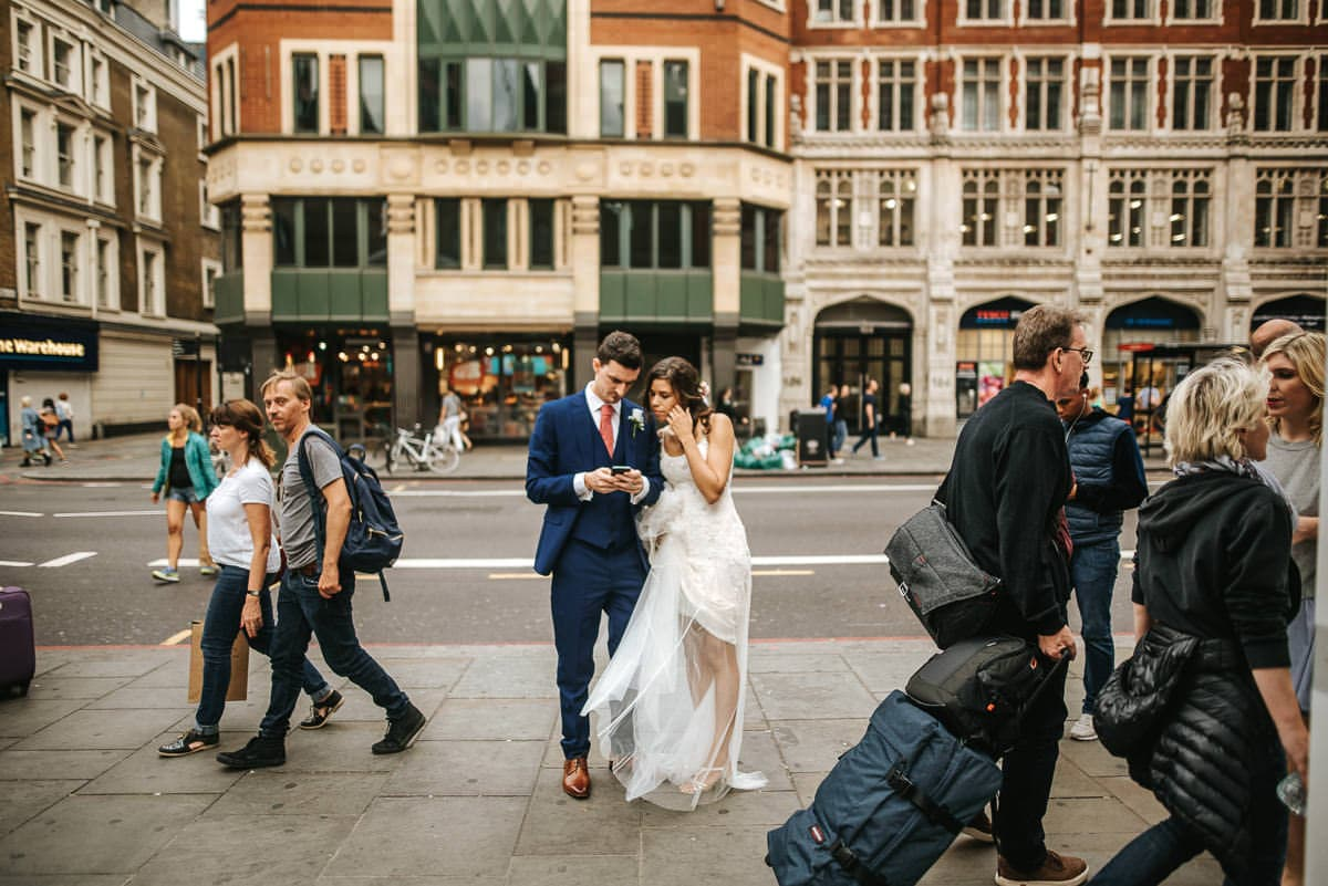 wedding couple lost in london