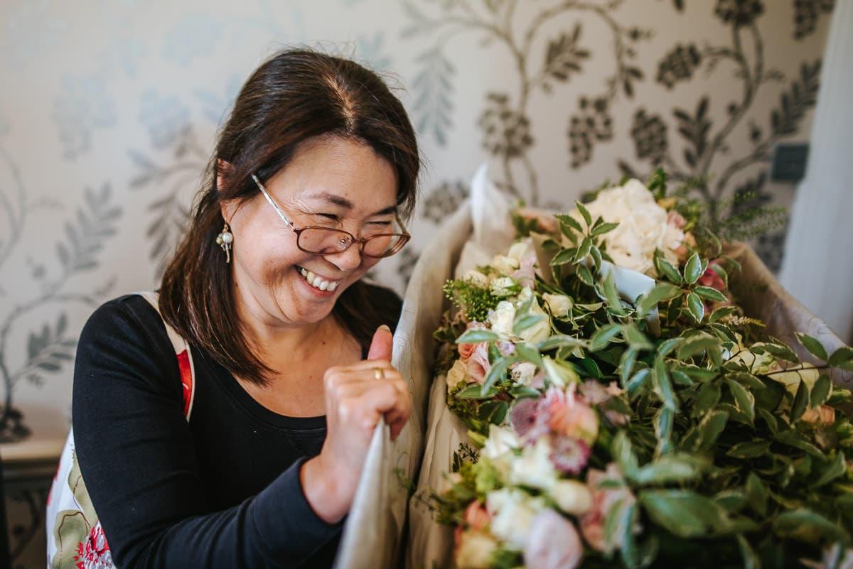 wedding flower lady
