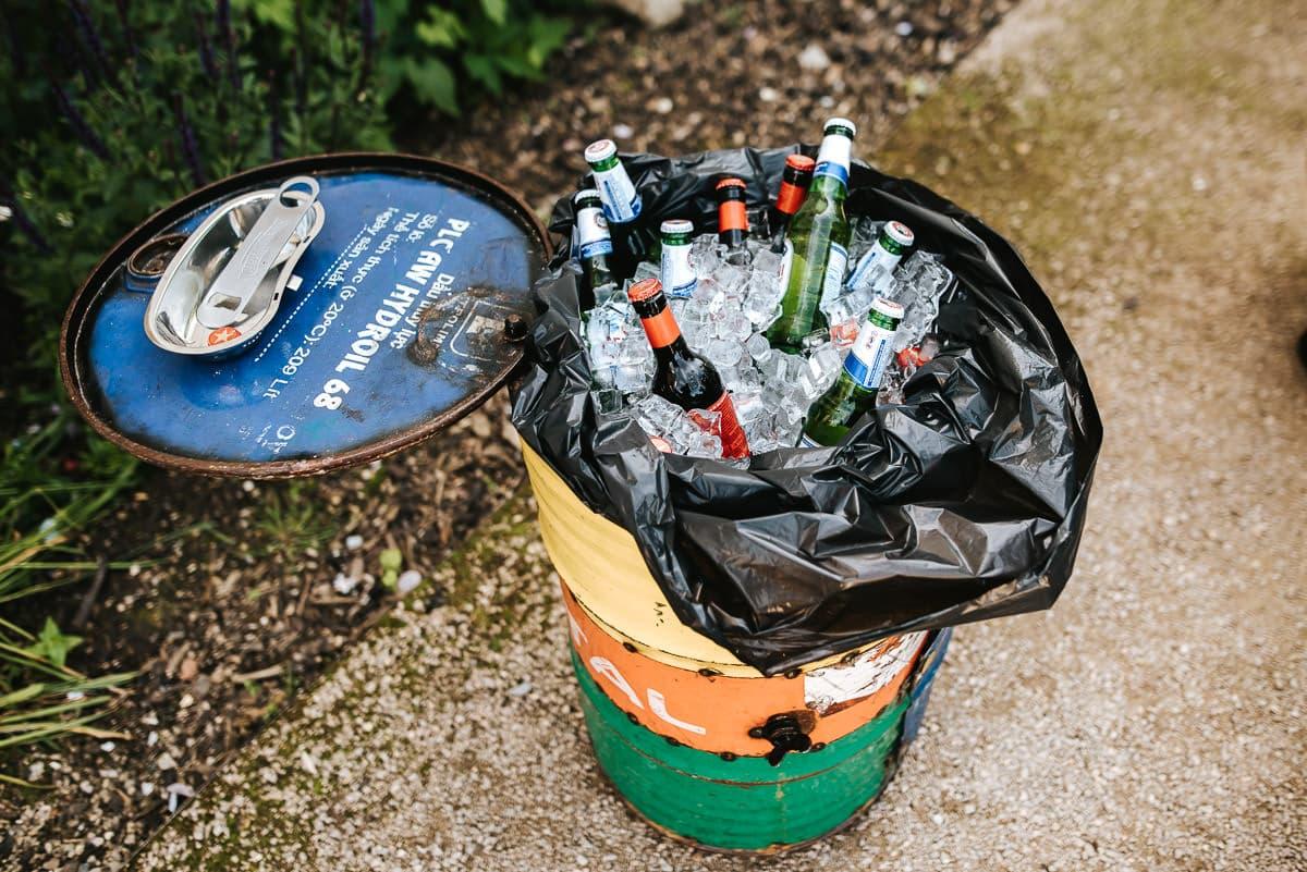 beers in a barrel wedding idea