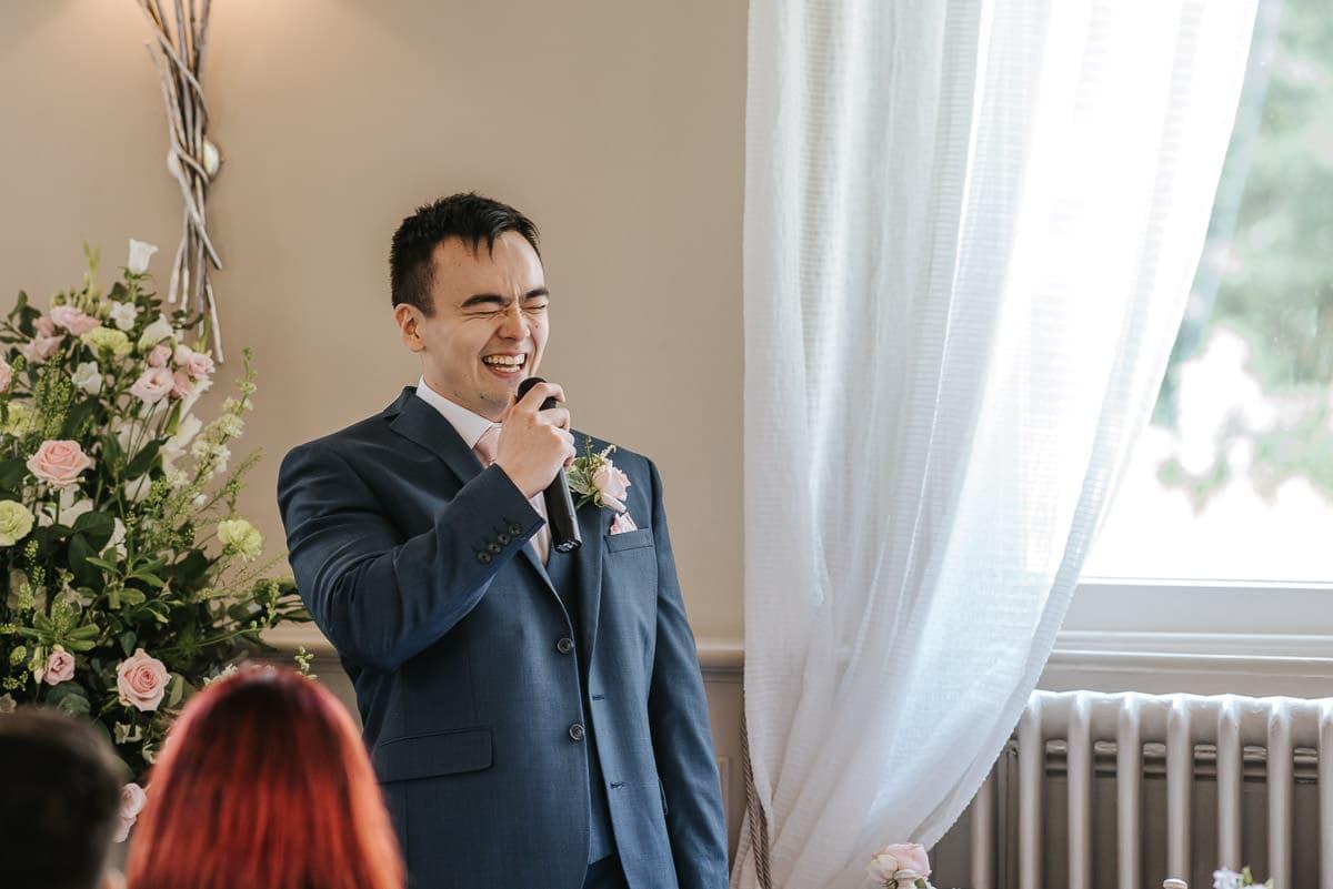 morden hall wedding speeches groom