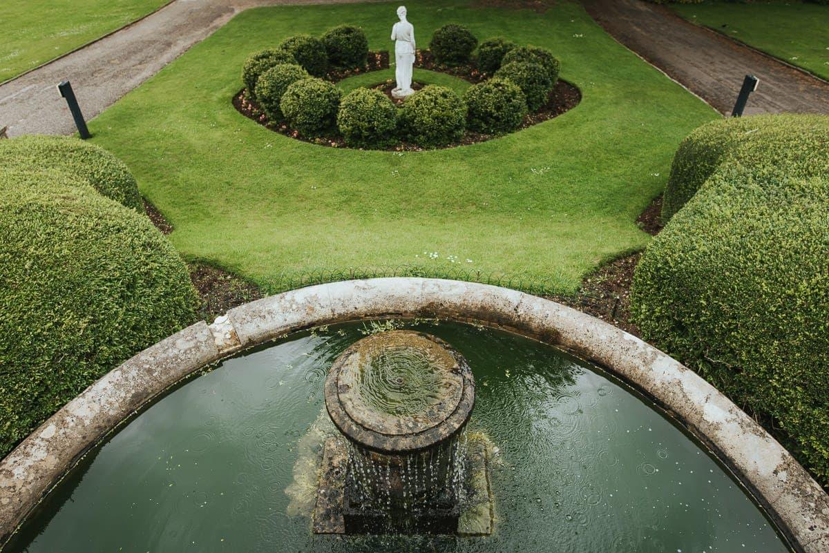 bath wedding venue fountain
