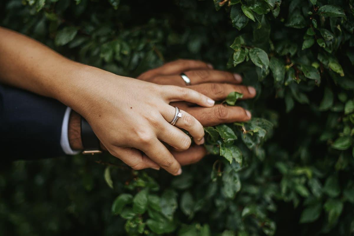 tipi wedding berkshire bride and groom rings