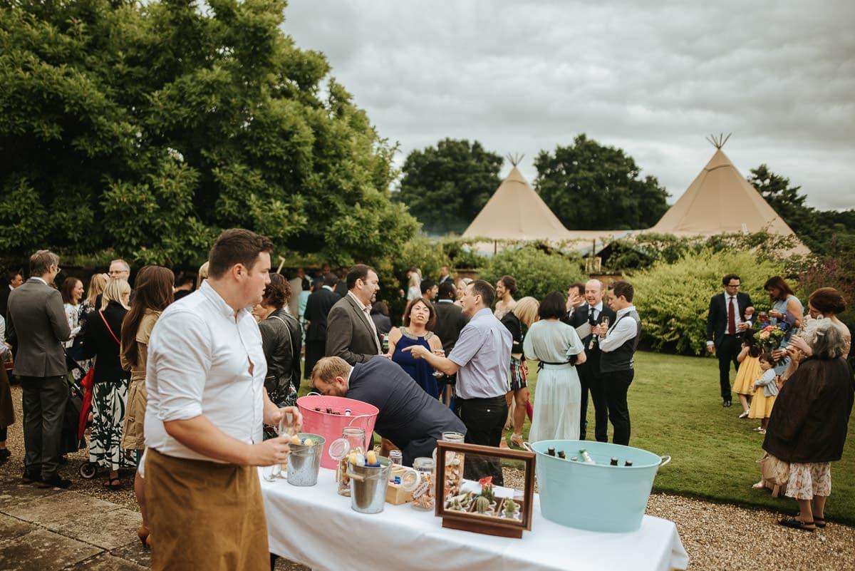 tipi wedding berkshire guests