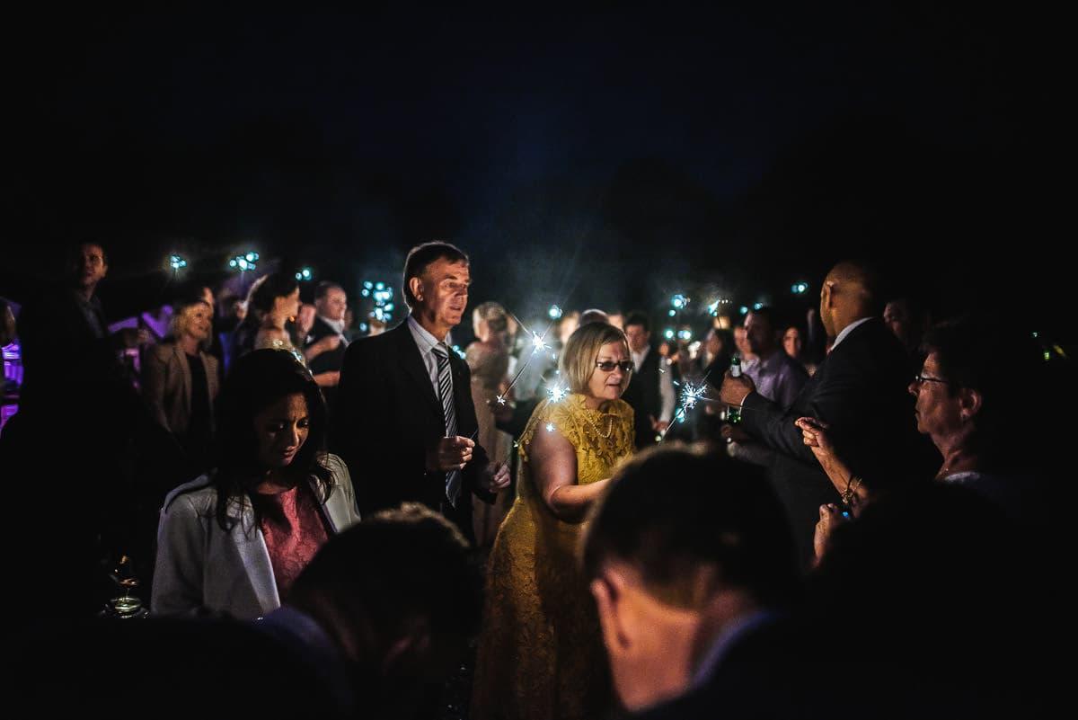 tipi wedding berkshire sparklers
