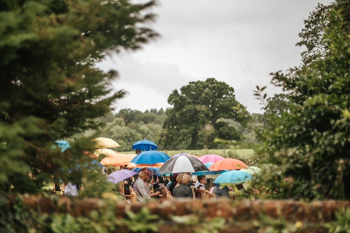 tipi wedding berkshire raining