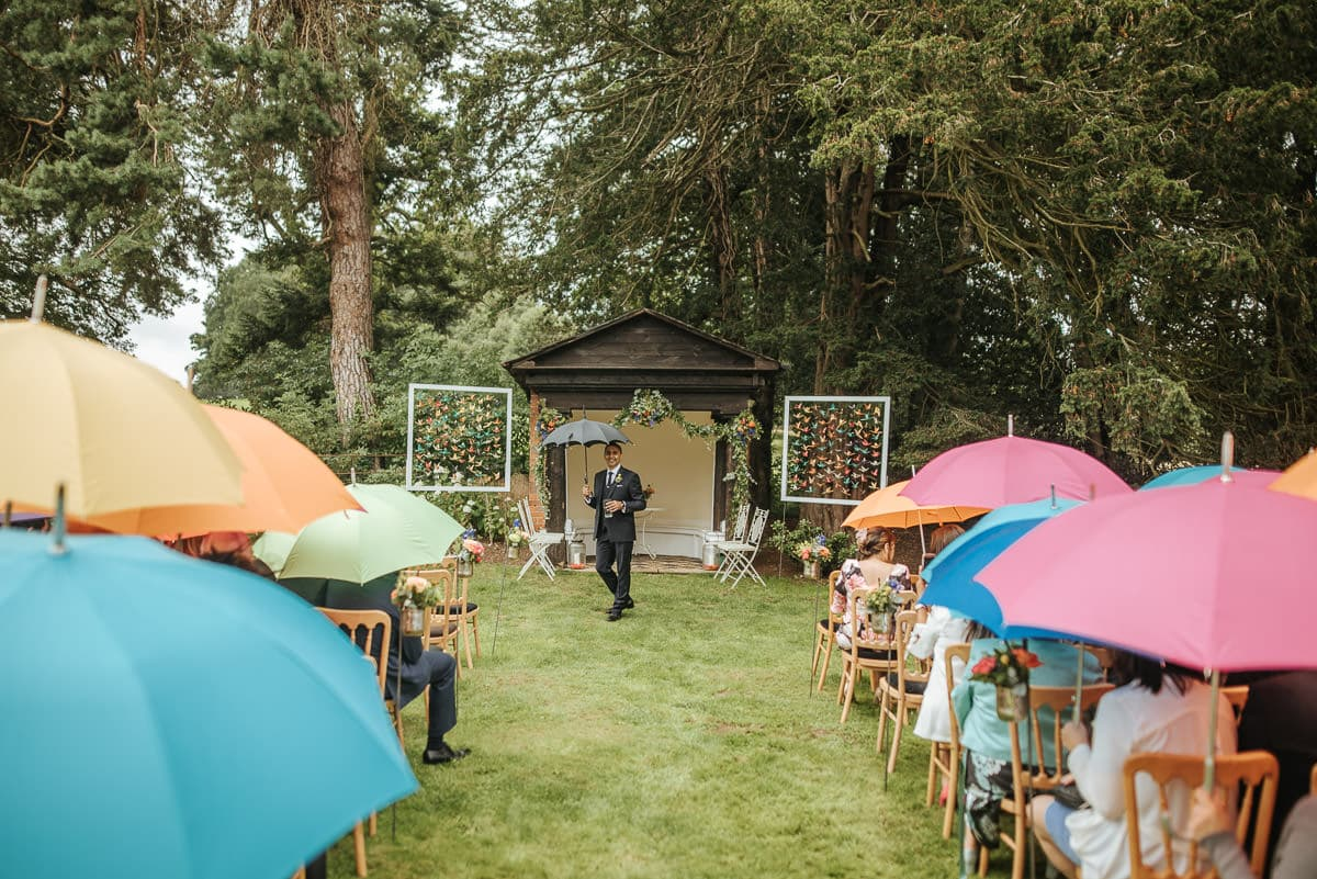 tipi wedding berkshire rainy
