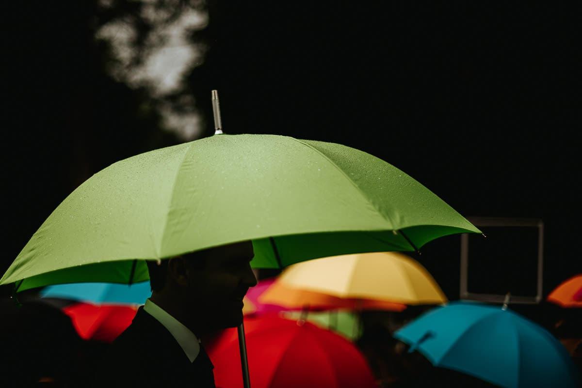 tipi wedding berkshire colorful umbrellas