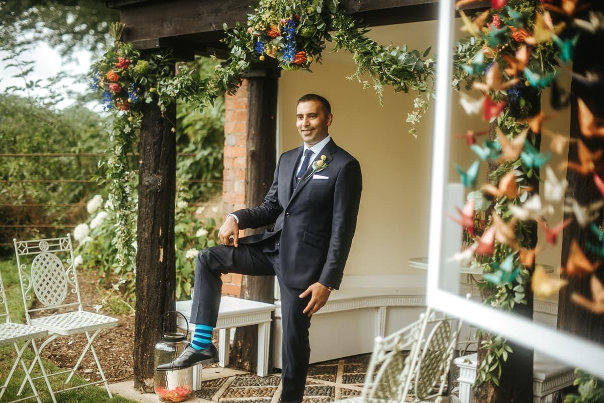 tipi wedding berkshire grooms socks