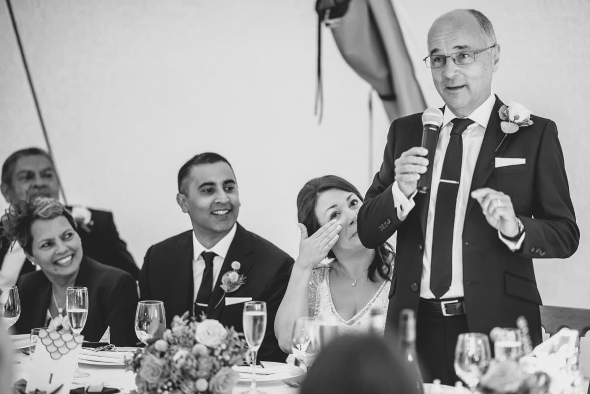 tipi wedding berkshire father speech