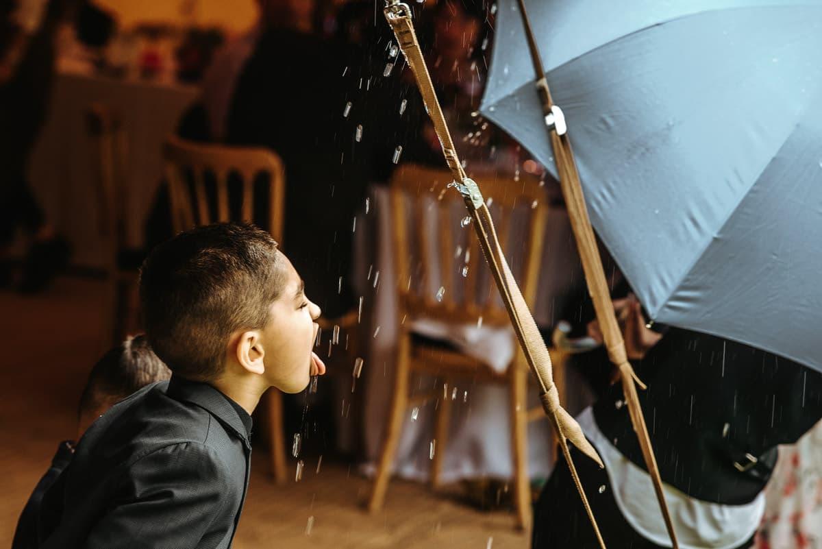 tipi wedding berkshire drinking rain water