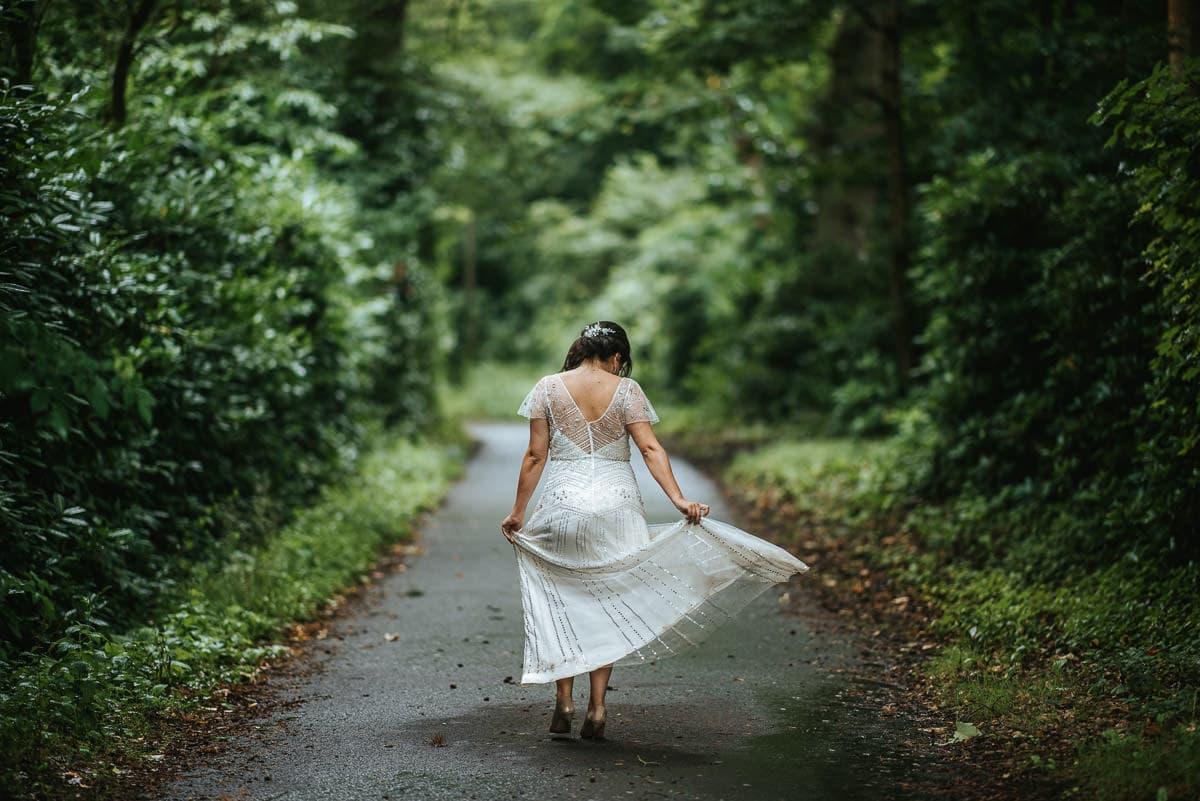 tipi wedding berkshire bride