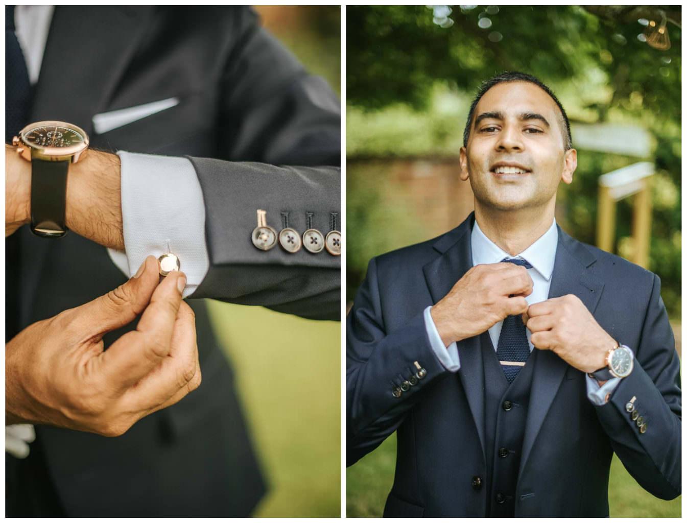 tipi wedding berkshire groom