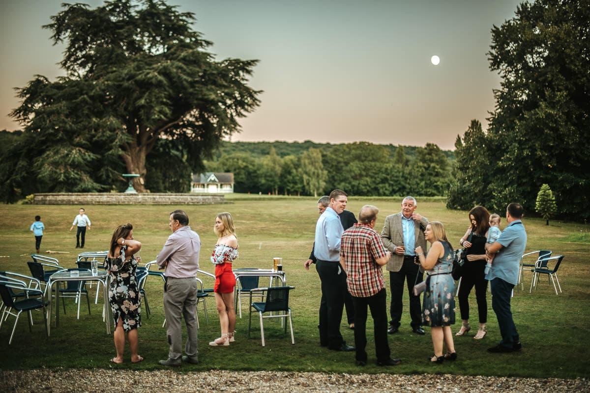 mount ephraim gardens wedding evening guests