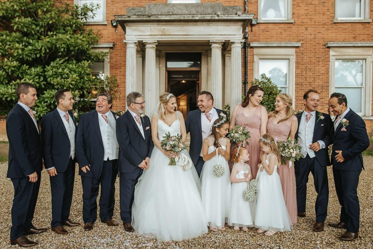 mount ephraim gardens wedding group shot
