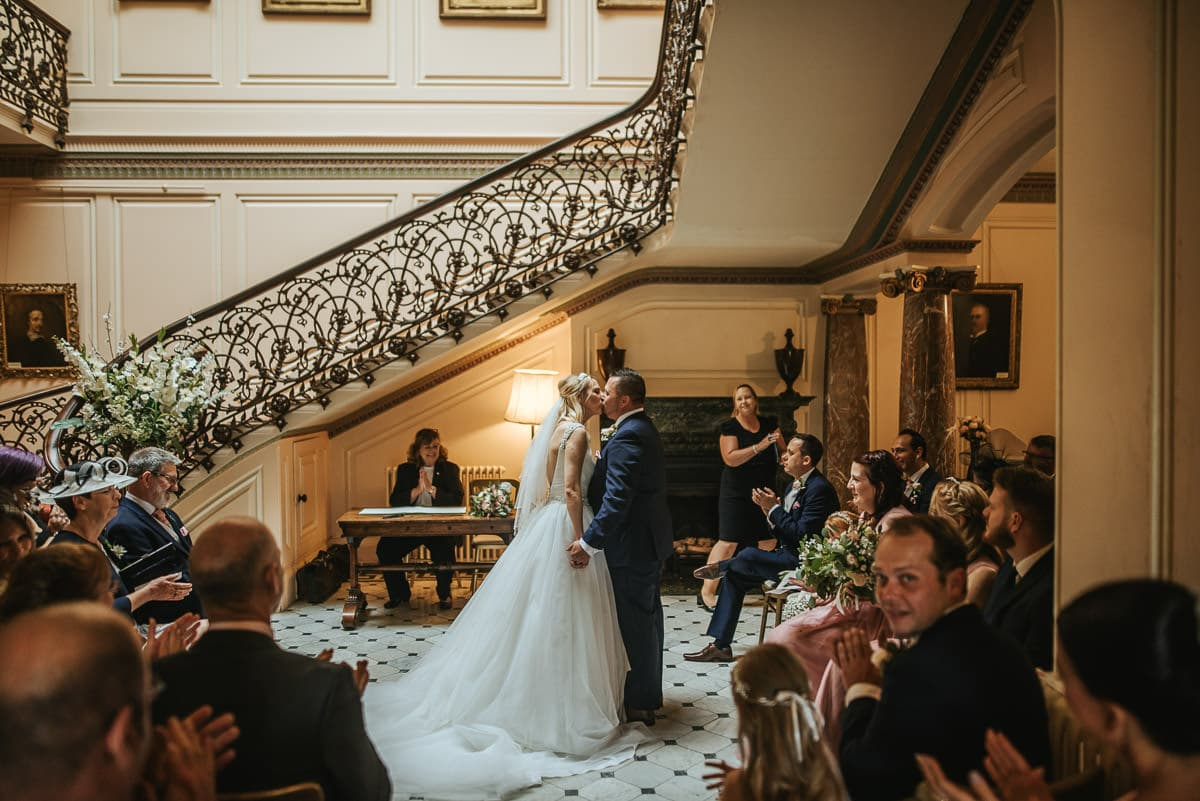 mount ephraim gardens wedding first kiss
