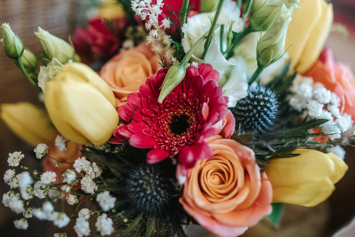 norton park wedding getting ready flowers
