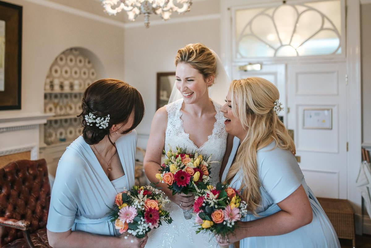 norton park wedding getting ready bride