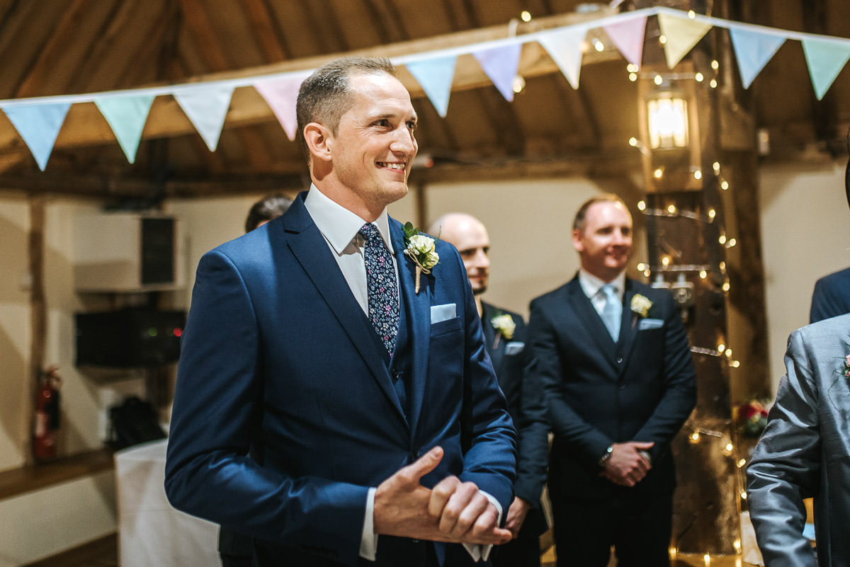 norton park wedding grooms reaction