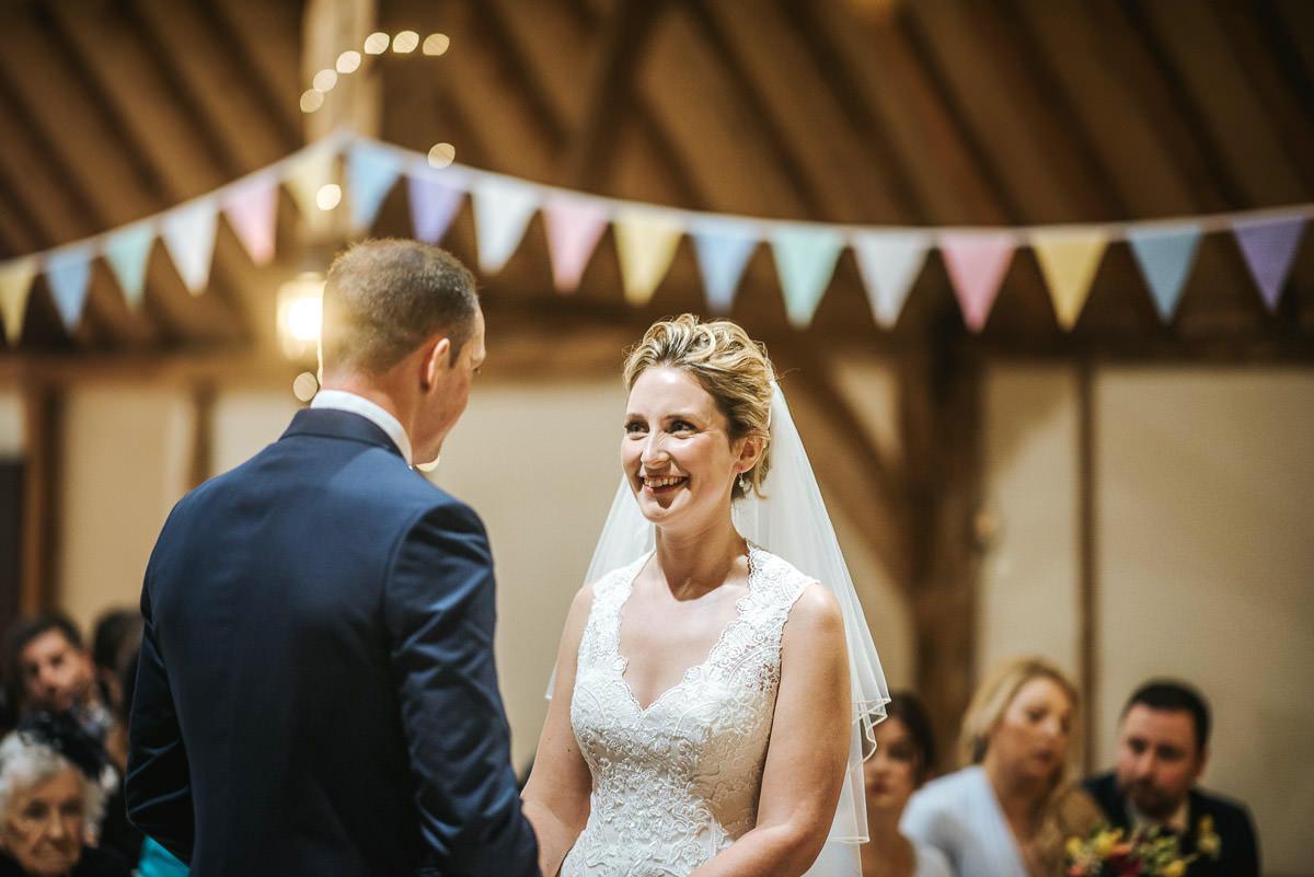 norton park wedding ceremony bride