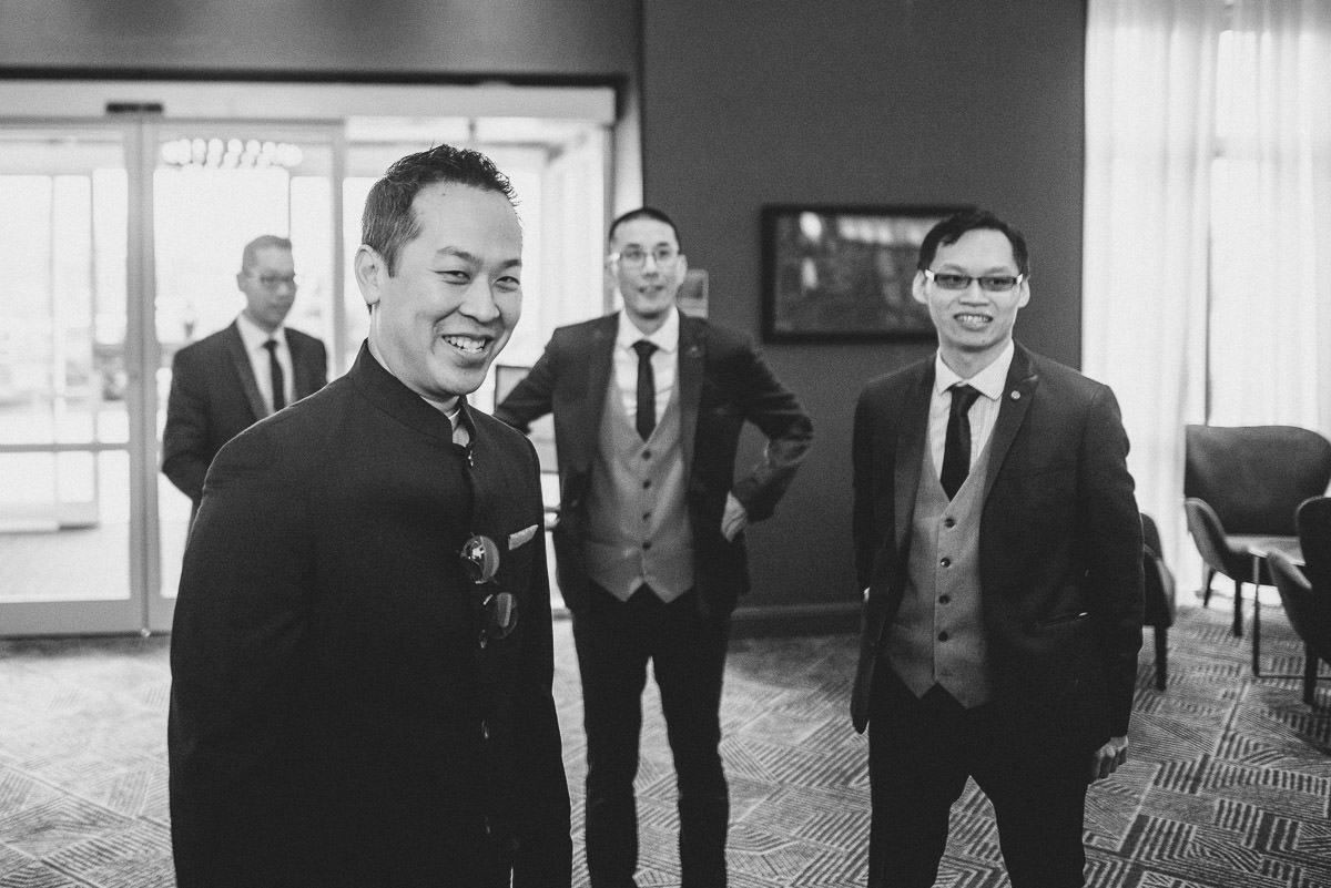 chinese wedding photography london groom and groomsmen