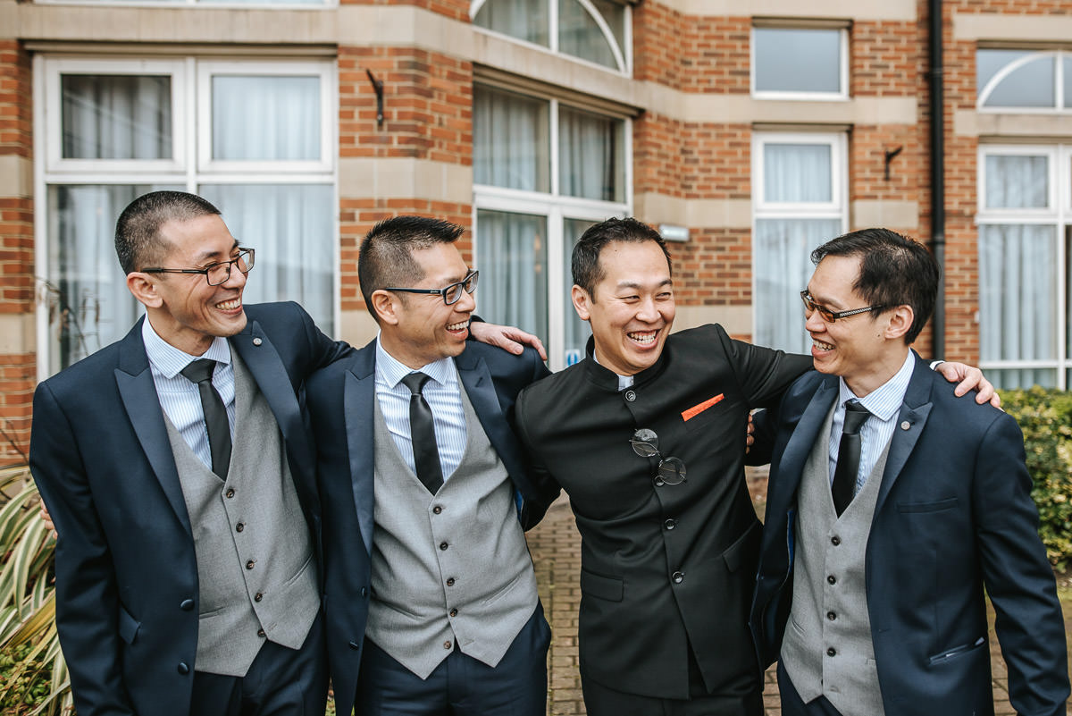 chinese wedding photography london groomsmen