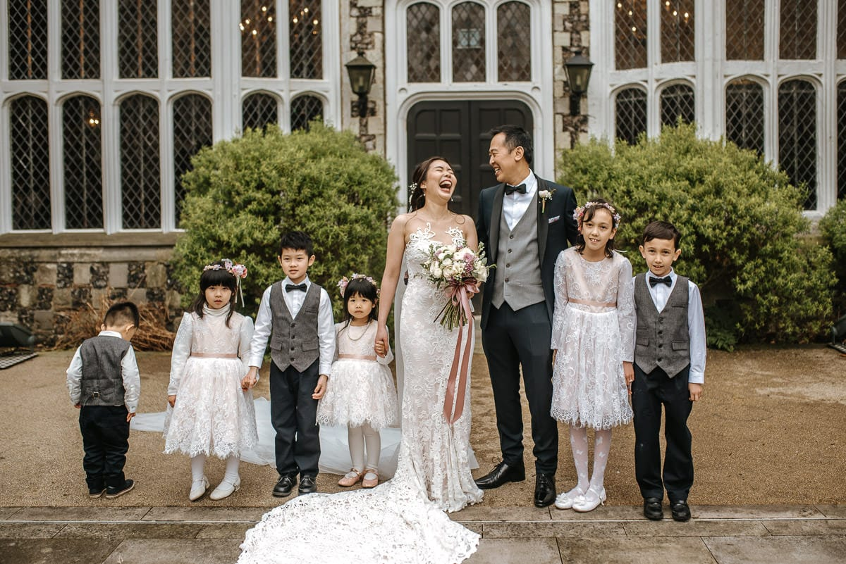chinese wedding london hall place bexley bride and groom kids