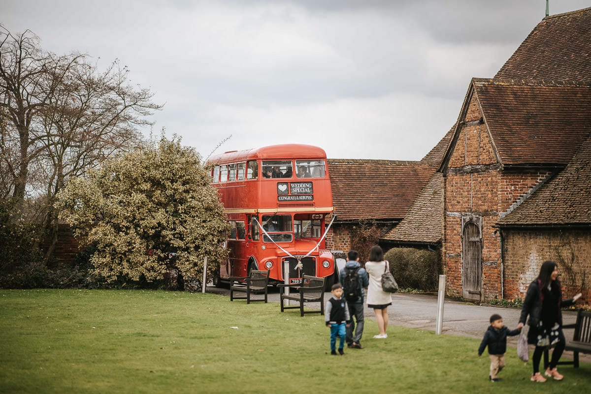 chinese wedding london hall place bexley red bus