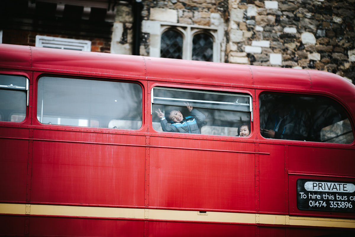 chinese wedding london hall place red bus