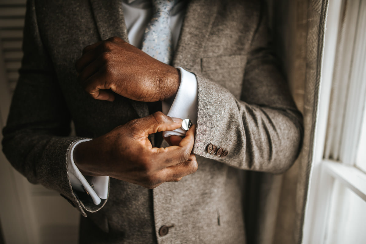east quay venue wedding cufflink