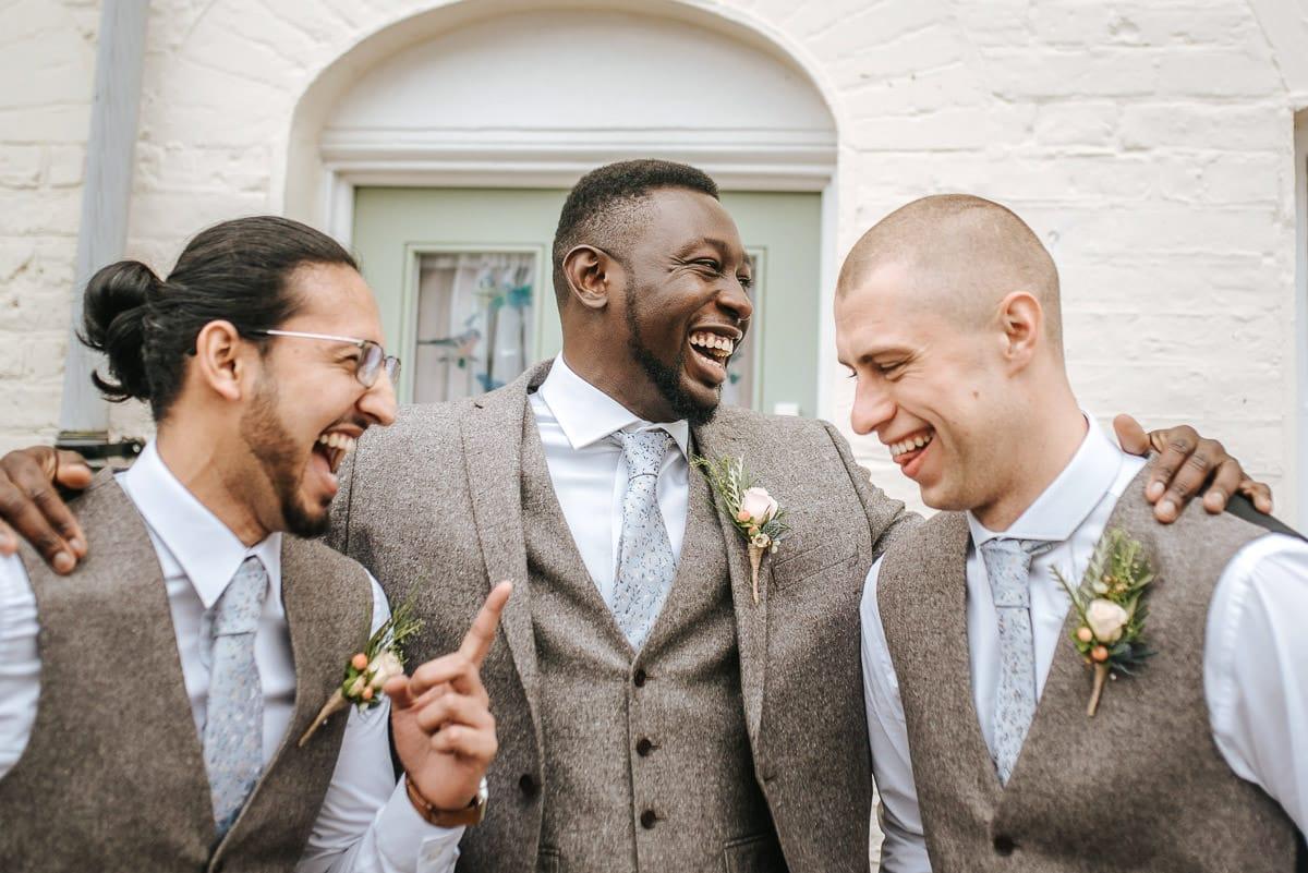 east quay venue wedding groom and groomsmen