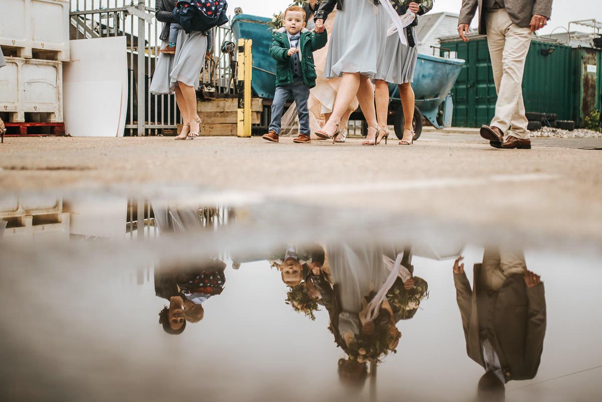 east quay venue wedding puddle reflection