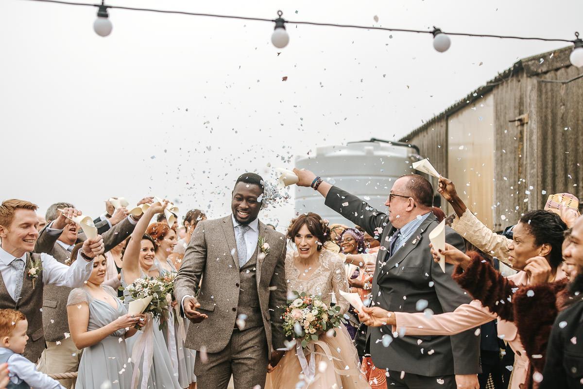 east quay venue wedding confetti