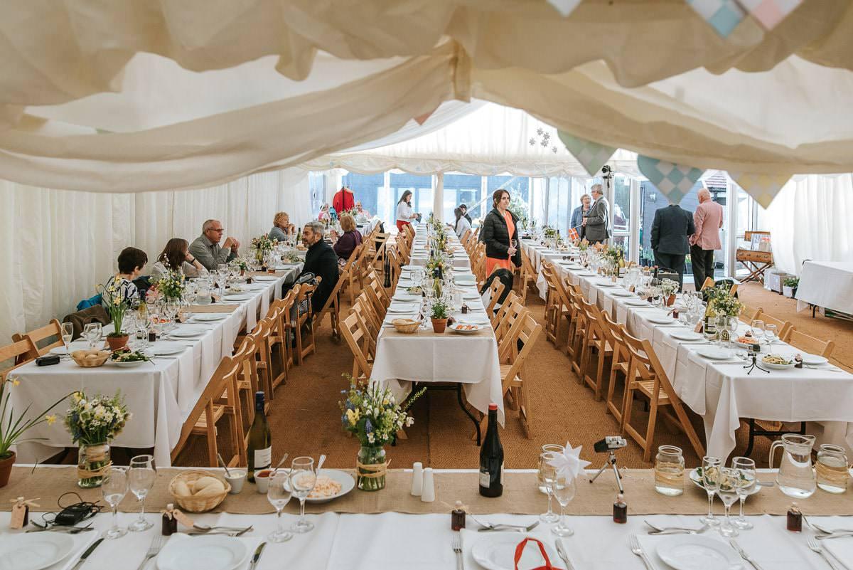 essex documentary wedding photography table decor