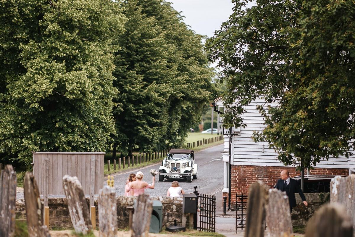 kent wedding photography wedding car