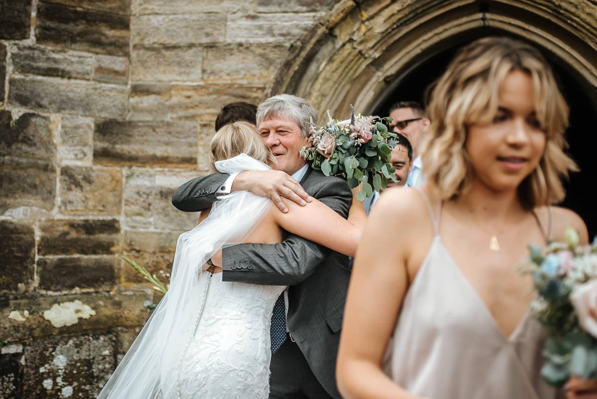 kent wedding photography dad's hug