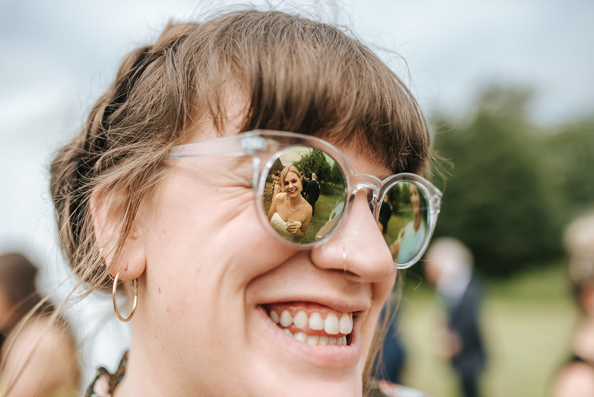 kent wedding photography glasses reflection