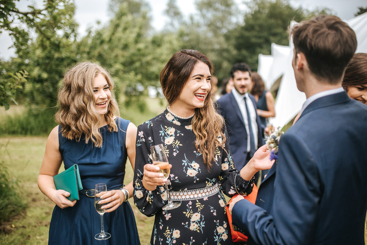 kent wedding photography cheerful guests